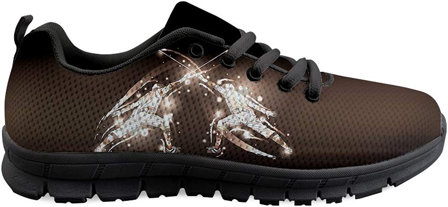 Owaheson Lace-up Sneaker Training shoes Mens Womens Fencing Swordsmanship Honor