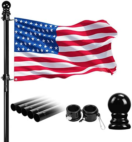 6 2FT Flag Pole Kit For House Garden Yard American Outdoor Heavy Duty Stainless Steel Flagpole product image