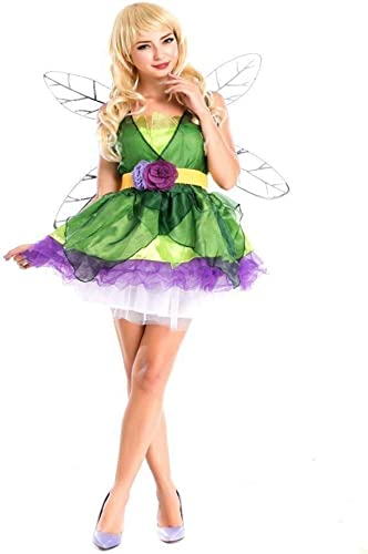 Fashion-Cos1 Adult Flower füry Kostüm M hen Grün Elf Cosplay Halloween füry Kleider Karneval Dress Up Party Queen Kostüm (Farbe   Grün)