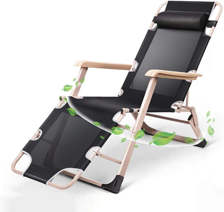 Liegestuhl übergroe Patio-Textoline-Schwerelosigkeitsstühle für Hochleistungsleute, Outdoor-Garten-Deck-Sonnenliegen, Klappstühle, Unterstützung 200kg (Farbe   Schwarz)