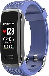 WF Pulsera Actividad Inteligente Hombre GPS, Pulsómetro Presión Arterial Pulsera Inteligente Cronómetro Pulsera Podómetro Impermeable IP67 Android iOS Reloj Inteligente Mujer Hombre