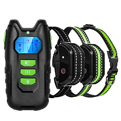 Havenfly Collar de Adiestramiento para Perros Sin Descargas Eléctricas con Rango de 300 Metros, Funciones Vibración, Sonido y Luz LED, Impermeable y Recargable