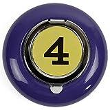 HAB & GUT -ASH-3- Cenicero de Bolsillo el cenicero de Metal para Llevar, Violeta, Ø 6 cm