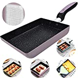 Tamagoyaki Japanese Omelette Pan/Egg Pan - Non-stick Coating - Rectangle Frying Pan Mini Frying Pan...