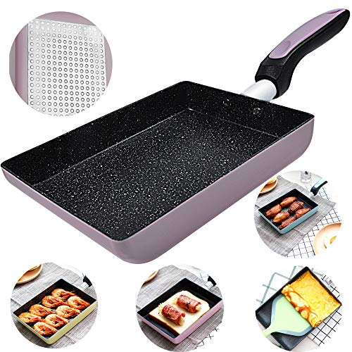Tamagoyaki Japanese Omelette Pan/Egg Pan - Non-stick Coating - Rectangle Frying Pan Mini Frying Pan – Pink