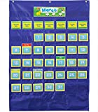 Carson Dellosa Deluxe Calendar Pocket Chart—Monthly Elementary Calendar With Days of the Week, Holidays, Special Day Cards, Classroom or Homeschool (35' x 25')