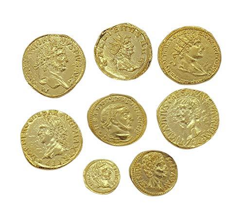 Eurofusioni Monete Romane Antiche placcate Oro - SET 8 Pezzi