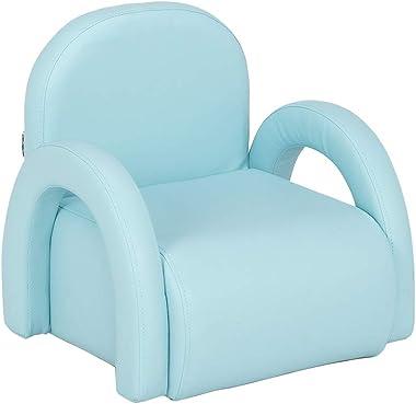 JOYMOR Kids Sofa, Couch Armrest Children Chair, Multifunctional Upholstery Sofa for Preschool Toddlers Children's Furniture (Blue)