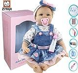 ZIYIUI Realistic Muñecas Reborn Bebé Reborn Baby Dolls Suave Vinilo de Silicona Bebe Reborn niño Realista Hecho a Mano Bebés Recién Nacido Juguetes 22 Pulgadas 55cm