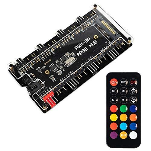 iFCOW 2-en-1 ARGB Controlador de temperatura de 4 pines para PC LED refrigerador de luz