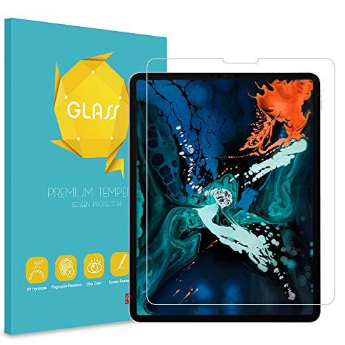 """Fintie Protector de Pantalla para iPad Pro 12.9"""" (2020/2018) - Protector de Cristal Templado de Pantalla Anti-Rasguños Premium HD Claro Dureza 9H"""