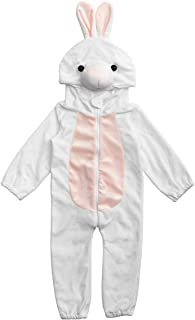 HollyHOME Baby Girl Romper Cosplay Costume Cuddly Rabbit Toddler Cosplay Pajamas One Piece Jumpsuit Animal Cosplay Outfits Sleeping Wear for 12-18M