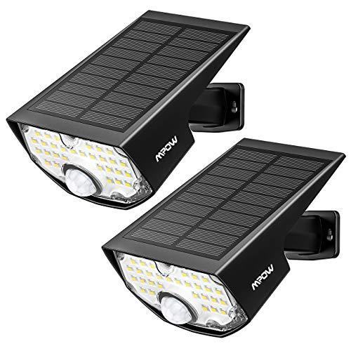 [2 Pezzi] Luci Solari Esterno, Super Luminoso 30LED Luce Solare Sensore Movimento Esterna, 270ºilluminare Lampada Solare IP65 Impermeabile 3 Modalità per Giardino[Classe di efficienza energetica A]
