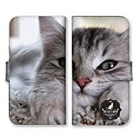 Apple iPhone12 手帳型 スマホ ケース カバー スマホケース スマホカバー ネコ アップ 写真 アイフォン12 アイホン12 21959