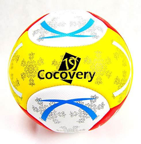 Balón Fútbol para Playa-Foam-Cocovery19 (Amarillo)
