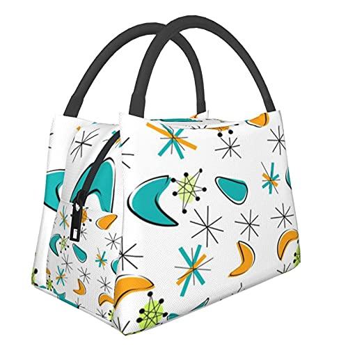 ATO_mic Tragbare Isoliertasche mit Uhr, Konfetti-Einkaufstasche für Lebensmittel, faltbar, waschbar, multifunktional