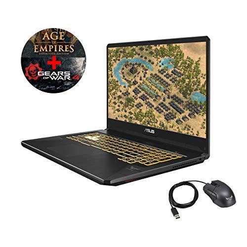 """Asus TUF765GM-EV149T-G PC Portable Gamer 17,3"""" Dalle 144 Htz Gris métal (Intel Core i7, 8 Go de RAM, 1 to + SSD 256 Go, Nvidia GeForce GTX1060 6 Go, Windows 10) Clavier AZERTY Français"""