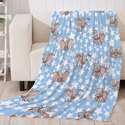 ZFSZSD Kuscheldecke Cartoon Tier Dumbo Felldecke Wohndecke Fleecedecke Sofadecke Tages Klimaanlage Decke Leicht für Couch Bett 51x59 inch