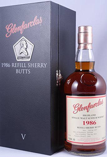 Glenfarclas 1986 30 Years 5. Edition Refill Sherry Butts Single Malt Scotch Whisky Cask Strength 53,8% aus der limited Six Generations Serie - eine von 1094 Flaschen