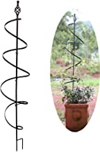 PLHMS Jardín Obelisco Metal Soporte para Flores Enrejado, Marco de Rose de la Ayuda de Plantas de jardín Obelisco Enrejado para Plantas trepadoras Trellis Soporte para Flores de Plantas trepadoras