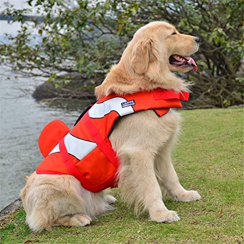 Feidaeu Mascota Perro Seguridad Ropa tiburón para Perro Vida Chaleco ahorrador natación preservador de Ba?o Perro Vida Chaqueta