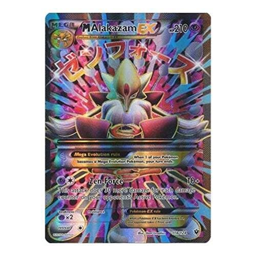 POKEMON XY FATES COLLIDE - Mega M Alakazam Ex 118/124 Full Art Rare Holo