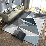 Antideslizante alfombras Azul Alfombra de Sala de Estar Azul...