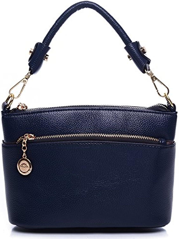 BalaMasa Womens Zip Patent Leather Handle Handbag