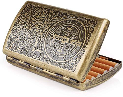 NADAENYH Pitillera de Acero, Caso de Cigarrillos para Las Mujeres, el Cigarrillo Antiguo Caso de Cigarrillos Caja de Cigarrillos para 12 Cigarrillos