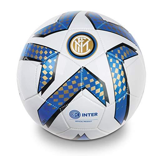 Mondo Toys 13782 F.C. Inter Pro – Balón de fútbol Cosido, Negro/Azul/Blanco, Talla 2