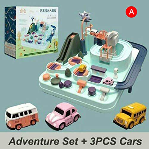 Gizayen Car Adventure Toy Children Railway Track Toys Interactive Toys for Boys Girls Puzzle Games, 2019 New Concept Car Big Adventure Track Toy for Kids Toddlers Boys And Girls from 3 Age (A)