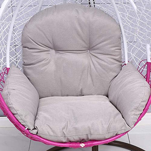 LBBGM Jardin Patio Rotin Swing Chair Osier Suspendu Chaise Hamac Coussin et Housse Intérieur ou Extérieur, Taille: 120x118 Cm (sans Chaise)