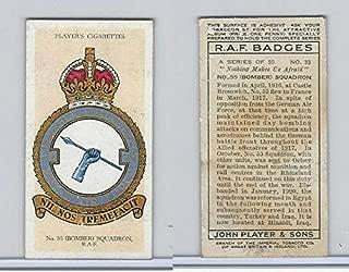 P72-172b Player, RAF Badges (Motto), 1937, 33 55th Bomber Squadron RAF