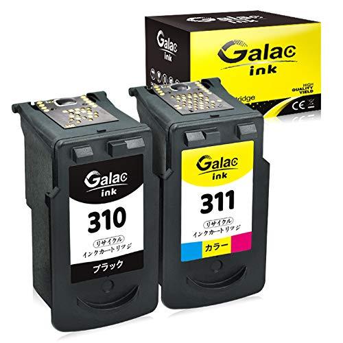 Galac ink キャノン(Canon)BC310+BC311 大容量 残量表示付 BC-310+BC-311(ブラック+カラー)2個セット【再生インク】【対応機種】PIXUS - (MP493, MP490, MP480, MP280, MP270, MX420, MX350, iP2700)