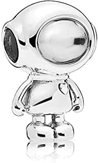 Cosmo Tommy/Planet Love 925 Sterling Silver Charm Aastronaut Bead for Pandora Bracelets