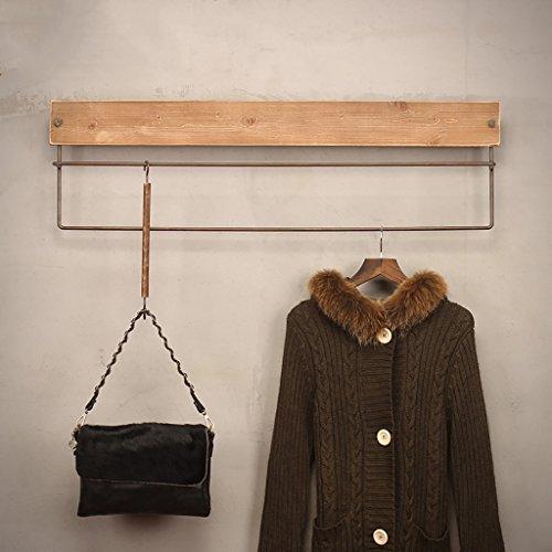 NDDDSD Coat Rack Coat rack kleding winkel hanger display stand muur is opknoping massief hout rieten muur gemonteerde kapstok
