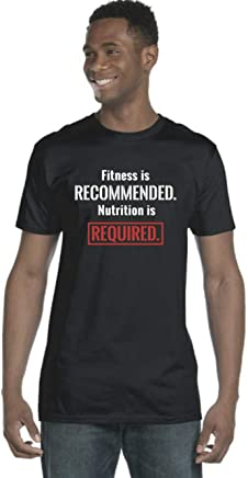 Fitness Recommended Nutrition Required Black Graphic Tee
