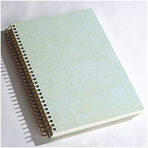 Libretas Bonitas Cuaderno Cuaderno Lamela Cuaderno Letras Espiral Libro Bobina Cuaderno Diario Engrosado Plan De Viaje LíNea Bloc De Notas Oficina Escuela Estudiante Regalo (Color : Green)