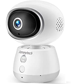 Home WiFi Security Camera,Joneytech 1080P Wireless CCTV Baby/Pet Camera for HD Monitor with Two Way Audio Remote Indoor Night Vision Reverting Call and Motion Detection Alerts