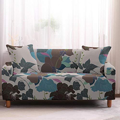 Alayth - Copridivano stampato con motivo floreale, 1/2/3/4 posti, per divano, asciugamani, mobili, poltrone, poltrone, 4 posti, colore 1
