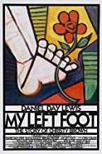 My Left Foot Movie Poster (27 x 40 Inches - 69cm x 102cm) (1989) Style B -(Daniel Day-Lewis)(Brenda Fricker)(Ray McAnally)(Cyril Cusack)(Fiona Shaw)(Hugh O'Conor)