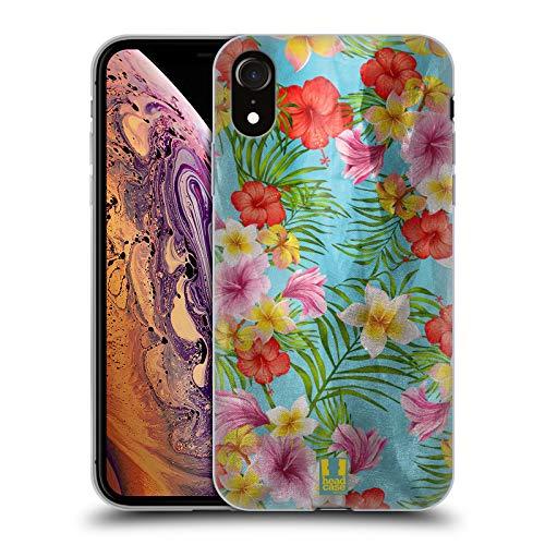 Head Case Designs Floración Tropical Estampados Florales satinados Carcasa de Gel de Silicona Compatible con Apple iPhone XR