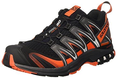 Salomon XA Pro 3D, Zapatillas de Trail Running Hombre, Negro (Black/Magnet/Flame), 43 1/3 EU