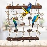 Red de escalada para pájaros Cuerda de cáñamo Escalera para escalar jaulas colgantes Ju...
