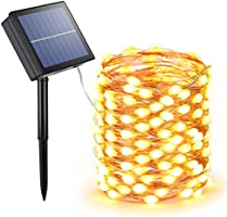 Joomer Solar String Lights,72ft 200 LED 8 Modes Outdoor String Lights(Upgraded Oversize Lamp Beads),Waterproof Solar...