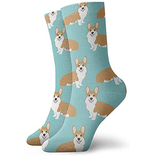 NA Grappige corgi honden mintgroen jurk sokken grappige sokken gekke sokken nonchalante sokken voor meisjes jongens