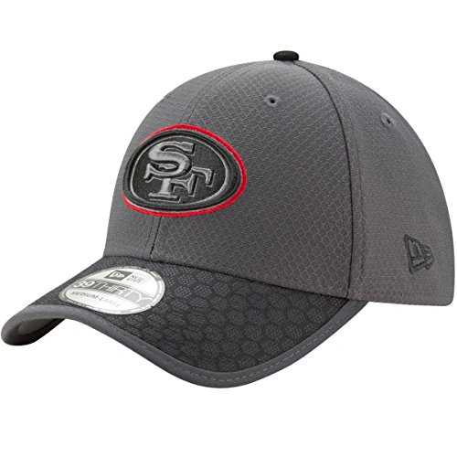 San Francisco 49ers New Era NFL 39THIRTY 2017 Sideline Graphite Flex Fit Hat Hut
