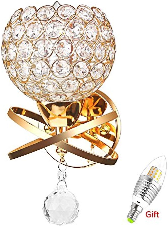 HEYUN& Moderne Stil Dekorative Kristall Wandleuchten Nachttisch Wand Lampe ( Farbe   Gold )