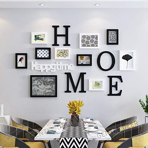 Little Dove - Marco de fotos para salón, pared creativa, fondo de restaurante (blanco + negro)
