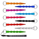 Self Defense Key Chain,Kubotan Aluminum Alloy Handmade Portable, Gift to oneself -1 Pack with 9 Items(9 colors) )